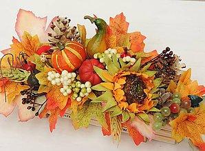 Dekorácie - Jesenná dekorácia (v debničke) - 11015700_