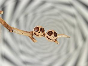 Náušnice - Tweedledee and Tweedledum - Creepy doll  earrings - 11015198_