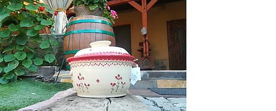 Nádoby - Keramický hrniec , pekáč - kvetinka - 11015162_