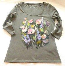 Tričká - Ružové kvety - 11015009_
