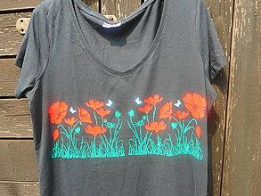 Tričká - červené maky-tričko-M,L,XL - 11015824_