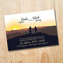 Papiernictvo - Svadobné oznámenie - Hory pre Lindu - 11016256_