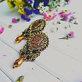Náušnice - Vintage soutache earrings n.2 - sutaškové náušnice - 11015169_