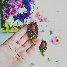 Náušnice - Vintage soutache earrings n.3 - sutaškové náušnice - 11015173_