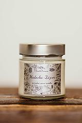 Svietidlá a sviečky - Sviečka zo 100% sójového vosku v skle - Medovka a Zázvor - 11015641_