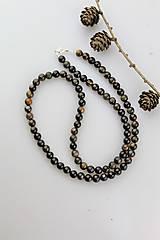Náhrdelníky - sokolie oko pánsky náhrdelník - 11016219_