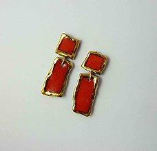 Náušnice - Tana šperky - keramika/zlato - 11015488_