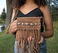 Kabelky - Kožená taška v africkom štýle - 11014827_