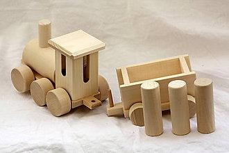 Hračky - Drevené hračky. Vláčik nákladný - 11015613_