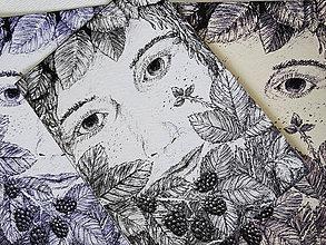 Kresby - Víla - A6 print (pohľadnica) - 11015241_