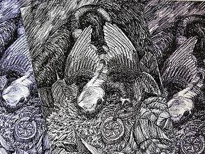 Kresby - Šarkaník - A6 print (pohľadnica) - 11015266_