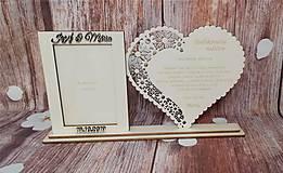 Dekorácie - Poďakovanie rodičom 9 s foto rámčekom + mená a dátum - 11014479_