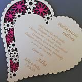 Dekorácie - Poďakovanie rodičom 9 s foto rámčekom + mená a dátum - 11014480_