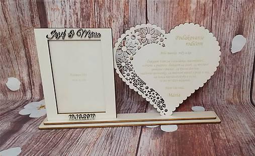Poďakovanie rodičom 9 s foto rámčekom + mená a dátum