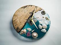 Hodiny - Marine _ Živicové drevené hodiny - 11016375_