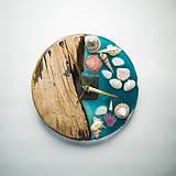 Hodiny - Marine _ Živicové drevené hodiny - 11016376_