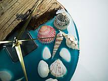 Hodiny - Marine _ Živicové drevené hodiny - 11016379_