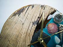 Hodiny - Marine _ Živicové drevené hodiny - 11016381_