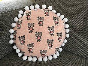 Textil - Jahodové medvedíky - 11014872_