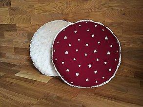 Úžitkový textil - Zlaté srdiečka - 11014957_