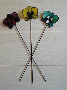 Dekorácie - Orchidea zo skla - 11016019_