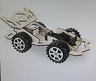 Iný materiál - Kreatívna sada - postav si autíčko na batérie (1.) - 11015796_