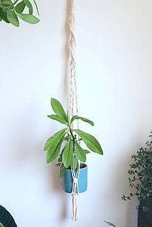 Dekorácie - Macrame držiak na kvetináč // Žihľava - 11014874_