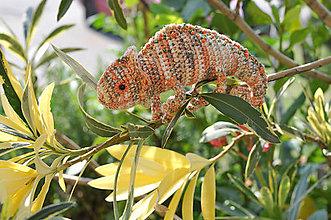 Hračky - Hačkovaný chameleon - 11015717_