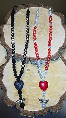 Iné šperky - Prívesok alebo amulet do auta  na želanie s textom menom alebo dátumom aj farebne podla vašeho priania použite lávové sr - 11018003_