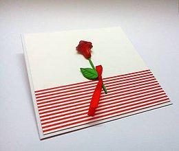 Papiernictvo - Pohľadnica ... ruža - 11018231_