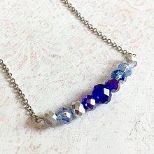 Sady šperkov - Violet-Beige & Stainless Steel Set / Sada šperkov Swarovski Rondelle (Chirurgická oceľ) /T0012 (Náhrdelník) - 11017066_