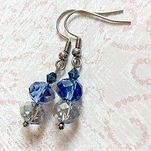 Sady šperkov - Violet-Beige & Stainless Steel Set / Sada šperkov Swarovski Rondelle (Chirurgická oceľ) /T0012 (Náušnice) - 11017070_