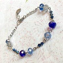 Sady šperkov - Violet-Beige & Stainless Steel Set / Sada šperkov Swarovski Rondelle (Chirurgická oceľ) /T0012 (Náramok) - 11017074_