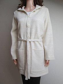 Svetre/Pulóvre - Kabátek s páskem - světle béžový - 11018477_