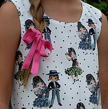 Detské oblečenie - Šatočky Bodkované flamenco - 11016920_