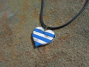 Náhrdelníky - Drevené srdce - 11016982_