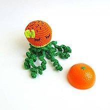 Hračky - Háčkovaná chobotnička (Chobotnička pomaranč) - 11016902_