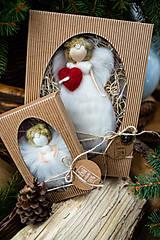 Dekorácie - Vianočný anjelik v darčekovom balení - veľký - 11017139_