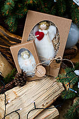 Dekorácie - Vianočný anjelik v darčekovom balení - veľký - 11017148_