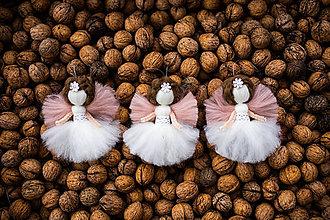 Dekorácie - Mini anjelik 3ks v darčekovej krabičke - 11017402_