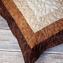 Úžitkový textil - Polštář quiltovaný Lipový - 11016859_