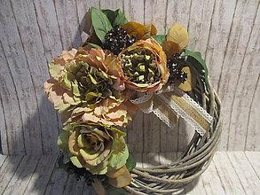 Dekorácie - Jesenný venček Vintage - 11018210_
