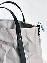 Veľké tašky - Kabelka - taška na kočík (väčšia) (sivá s čiernou) - 11018559_