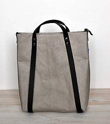Veľké tašky - Batohotaška (sivá s čiernou) - 11018544_