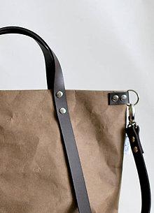 Veľké tašky - Kabelka - taška na kočík (väčšia) (tmavo hnedá) - 11018562_