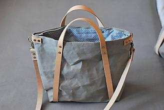 Veľké tašky - Kabelka - taška na kočík (menšia) (sivá) - 11018575_