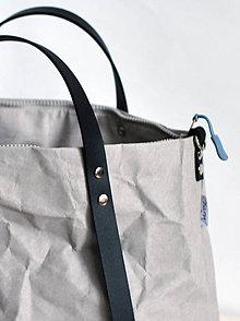 Veľké tašky - Kabelka - taška na kočík (menšia) (sivá s čiernou) - 11018576_