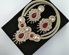Sady šperkov - Šujtášový set  (Hnedá) - 11017906_
