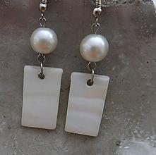Náušnice - perleťové náušničky - 11016723_