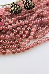 Minerály - kremeň korálky 8mm (rubínový kremeň) - 11017056_